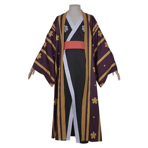 One Piece Halloween Carnival Costume Trafalgar Law/Trafalgar D Water Law Kimono Robe Full Suit Outfit Cosplay Costume