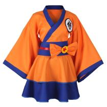 Dragon Ball Z Goku Genderbend Lolita Dress Cosplay Costume