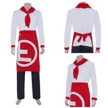 Super Danganrondo 2 Top Pants Suit Hanamura Teruki Halloween Carnival Outfit Cosplay Costume