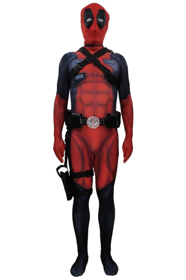 Marvel Deadpool Wade Wilson Outfit Suit Costume For Kids Adults