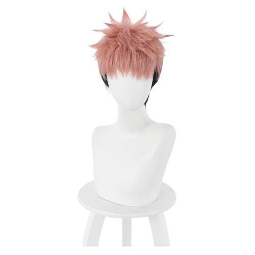 Jujutsu Kaisen Heat Resistant Synthetic Hair Yuuji Itadori Carnival Halloween Party Props Cosplay Wig
