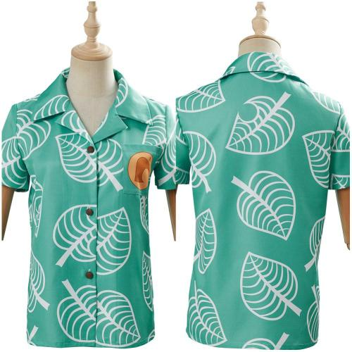 Adult Animal Crossing Top Timmy & Tommy Short Sleeve Shirts Cosplay Costume