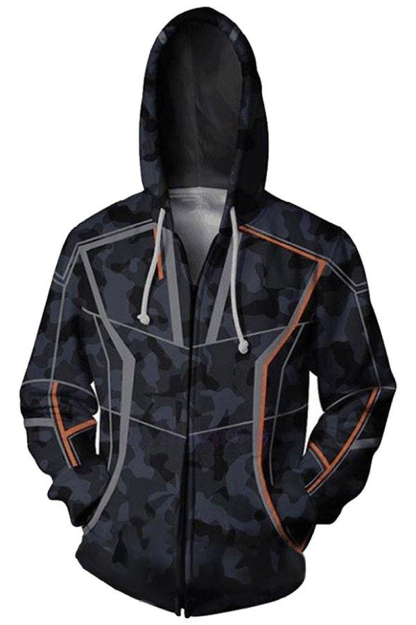 Avengers Infinity War Iron Man Robert Downey Jr Zipper Hoodie Sweatshirt Jacket Men