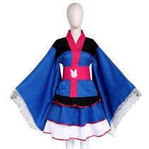 Hana Song Japanese Kimono Dress Overwatch OW D.Va Cosplay Costume