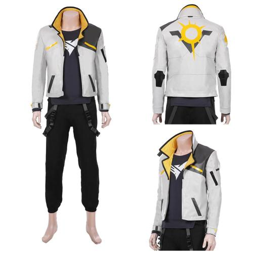 Game Valorant Men Jacket Pants Suit Phoenix Halloween Carnival Outfit Cosplay Costume
