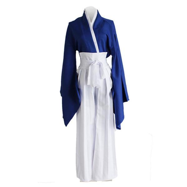 Anime Rurouni Kenshin Himura KENSHIN Blue Kendo Kimono Cosplay Costume