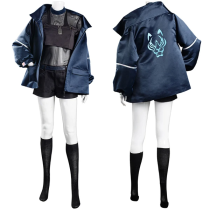 League of Legends LOL Coat Vest Outfit KDA Groups Akali The Rogue Assassin Halloween Carnival Suit Cosplay Costume