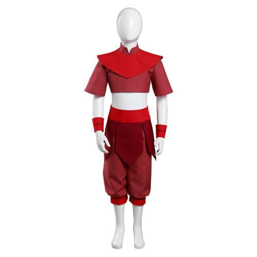 Avatar: The Last Airbender Kids Childern Top Pants Outfit Ty Lee Halloween Carnival Suit Cosplay Costume