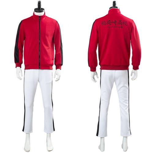 Haikyuu Inarizaki High School Uniform Volleyball Sportswear Team Jacket Pants Set Cosplay Costume