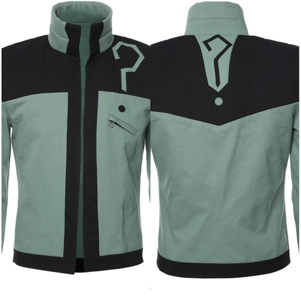 DC Young Justice Jacket Riddler Outfit Cosplay Costume