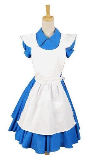Alice In Wonderland Movie Blue Alice Dress Costume
