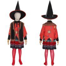 Hocus Pocus Kids Children Girls Skirt Hat Outfit Dani Dennison Halloween Carnival Suit Cosplay Costume