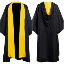 Harry Potter Hufflepuff Magic Gown Robe Cosplay Costume Halloween Carnival Suit