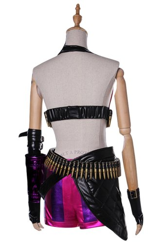 League of Legends LOL Jinx Outfit Cosplay Costume