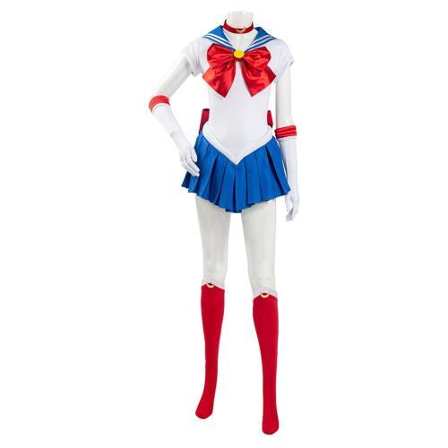 Sailor Moon Uniform Dress Outfit Tsukino Usagi Halloween Carnival Suit Cosplay Costume