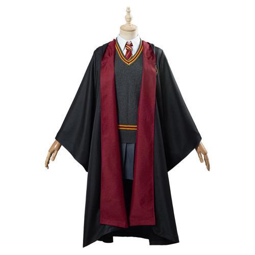 Harry Potter Hermione Women Robe Cloak Outfit Halloween Carnival Costume Cosplay Costume Granger Gryffindor School Uniform