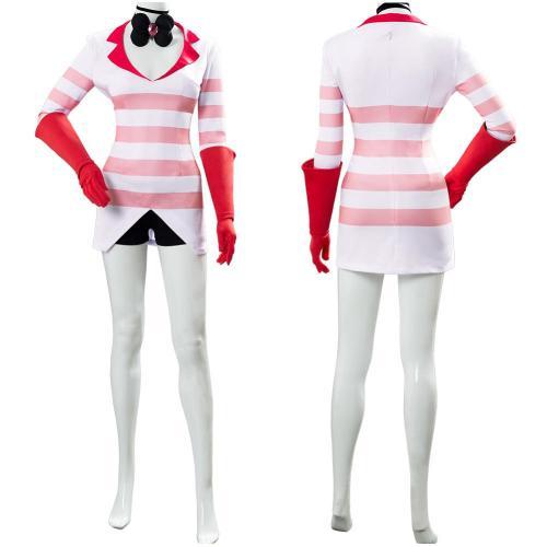 Hazbin Hotel Angel Dust Angeldust Uniform Cosplay Costume