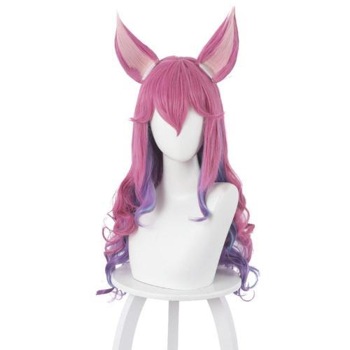 LOL Ahri the Nine-Tailed Fox Cosplay Wig with Ears