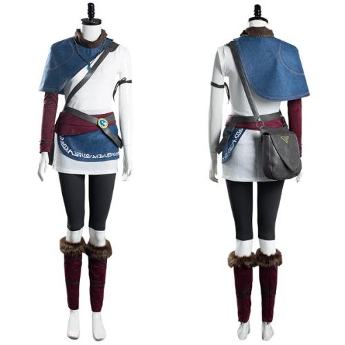 Game Bridge of Spirits Halloween Carnival Suit Kena Women T-shirt Pants Outfits Cosplay Costume