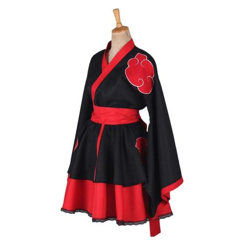 Naruto Akatsuki Lolita Robe Genderbend Cosplay Costume