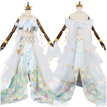 LoveLive Mermaid Festa Tsushima Yoshiko Cosplay Costume Awakening Dress