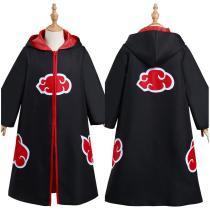 Naruto Kids Children Hooded Zip Up Coat Akatsuki Halloween Carnival Suit Cosplay Costume