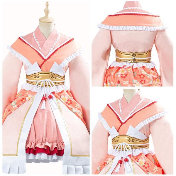 Princess Connect Re: Dive Game Himemiya Maho Fox Lolita Kimono Dress Cosplay Costume Halloween Carnival Outfit