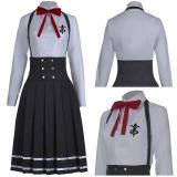 Anime Danganronpa V3 Halloween Carnival Costume Shirogane Tsumugi JK Uniform Dress Outfit Cosplay Costume