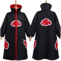 Naruto Akatsuki Kids Children Zip Up Coat Halloween Carnival Suit Cosplay Costume