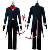 Hazbin Hotel Moxxie Helluva Boss Suit Cosplay Costume