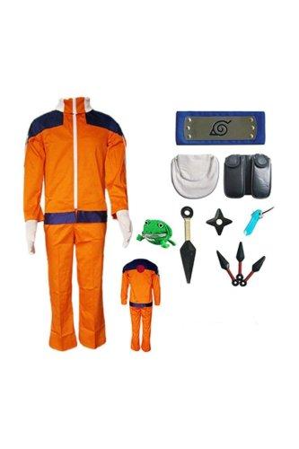 Naruto Naruto Uzumaki Outfit Kids Children Version Cosplay Costume