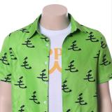 One Punch Man Saitama Oppai Casual Shirt Tee Green Ver.