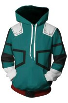 My Hero Academia Hoodie Boku no Hero Izuku Midoriya Deku Pullover Sweatshirt Unisex