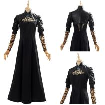 The Witcher Outfit Yennefer Black Party Long Dress Cosplay Costume