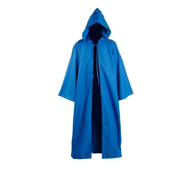 Star Wars Kenobi Jedi Cloak Cosplay Costume Blue Version