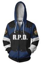 Resident Evil 2 Remake Re Leon Scott Kennedy Hoodie Teen Zip Up Sweatshirt