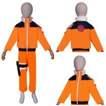 NARUTO Top Pants Outfit Naruto Uzumaki Halloween Carnival Suit Cosplay Costume KIds Children