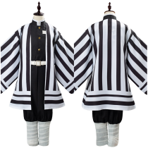 Anime Demon Slayer Kimetsu no Yaiba Uniform Outfit Iguro Obanai Cosplay Costume for Kids Children