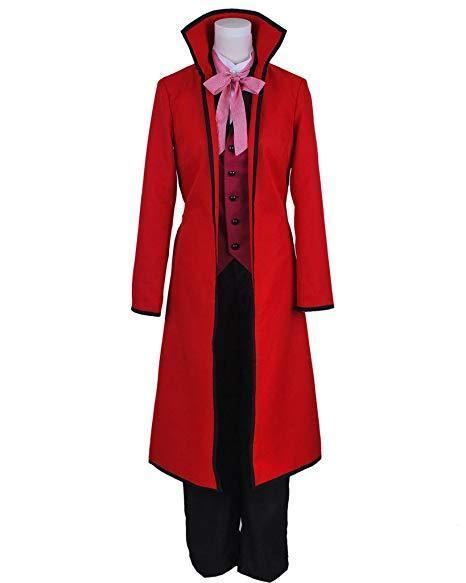 Black Butler Shinigami Grell Sutcliff Cosplay Costume