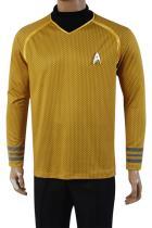 Star Trek Into Darkness Captain Spock Shirt Uniform Cosplay Costume Blue Yellow Red