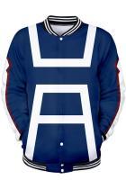 My Hero Academia Merchandies Hoodie Training Uniform 3D Baseball Sweatshirt