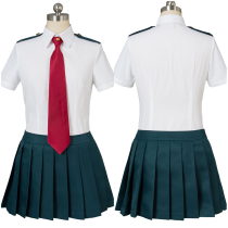 Boku no Hero Academia My Hero Academia Ochako Uraraka Tsuyu Asui Summer Uniform Dress Cosplay Costum