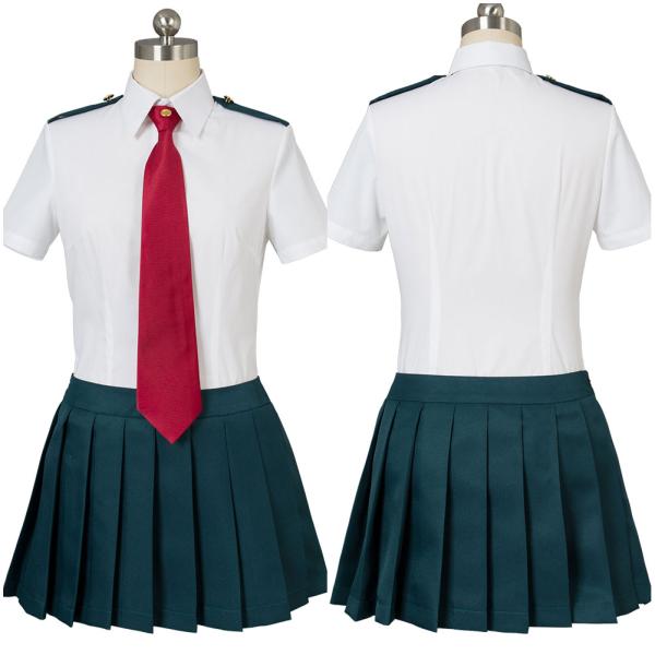 Boku no Hero Academia My Hero Academia Ochako Uraraka Tsuyu Asui Summer Uniform Dress Cosplay Costum