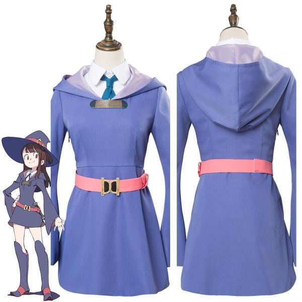 Little Witch Academia Kagari Atsuko Akko cosplay dress purple witch costume