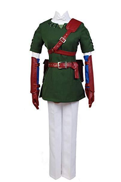 The Legend of Zelda Zelda Link Cosplay Costume NEW