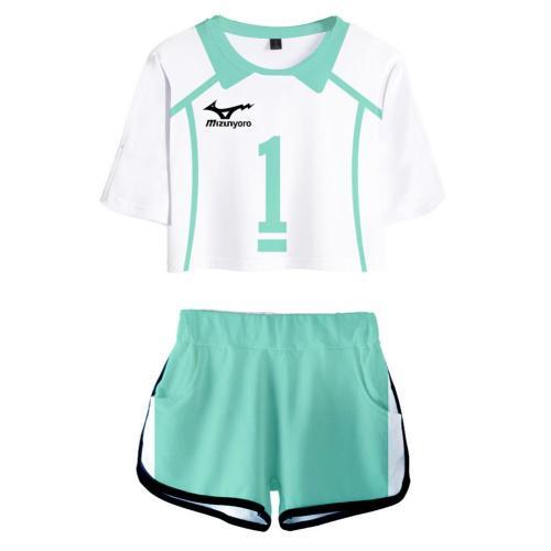 Haikyuu Aobajohsai High School Oikawa Tooru Uniform Jersey Sportswear Top Shorts Set for Women Cosplay Costume