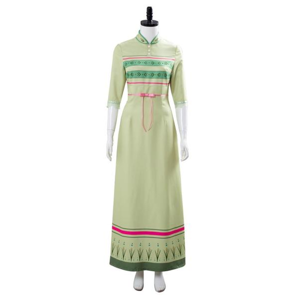 Frozen 2 Anna Arendelle Bedroom Green Dress Nightgown Gown Cosplay Costume