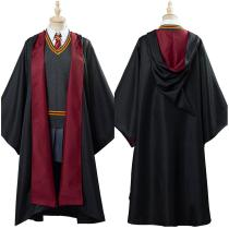 Harry Potter Hermione Women Robe Cloak Outfit Halloween Carnival Costume Cosplay Costume Granger Gryffindor School Uniform