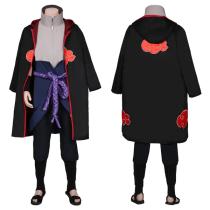 NARUTO Coat Pants Outfit Uchiha Sasuke Halloween Carnival Suit Cosplay Costume