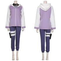 NARUTO Jacket Pants Outffit Hyūga Hinata Halloween Carnival Suit Cosplay Costume
